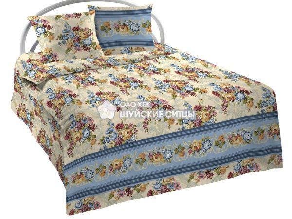 """Фото 3 - Ткань для постельного белья, 220 см """"Роскошный  букет""""  ГОСТ."""