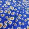 """Фото 7 - Ткань плательная """" ромашки"""" (синие)."""