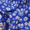 """Фото 9 - Ткань плательная """" ромашки"""" (синие)."""