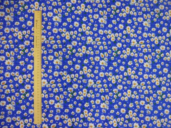"""Фото 4 - Ткань плательная """" ромашки"""" (синие)."""