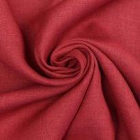 Фото 13 - Ткань лен 100% бордо умягченная.