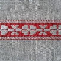 ЛЕНТА ОТДЕЛОЧНАЯ лен с красным 24мм
