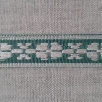 Фото 13 - ЛЕНТА ОТДЕЛОЧНАЯ лен с зеленым 24мм.