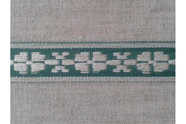 ЛЕНТА ОТДЕЛОЧНАЯ лен с зеленым 24мм