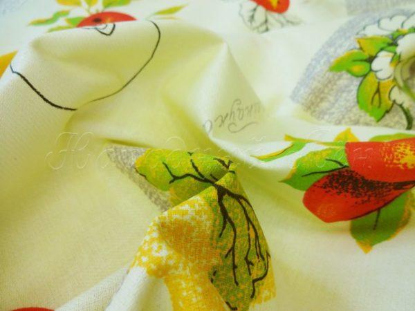 """Фото 5 - Ткань  для  столового белья   набивная """"Яблоки""""."""