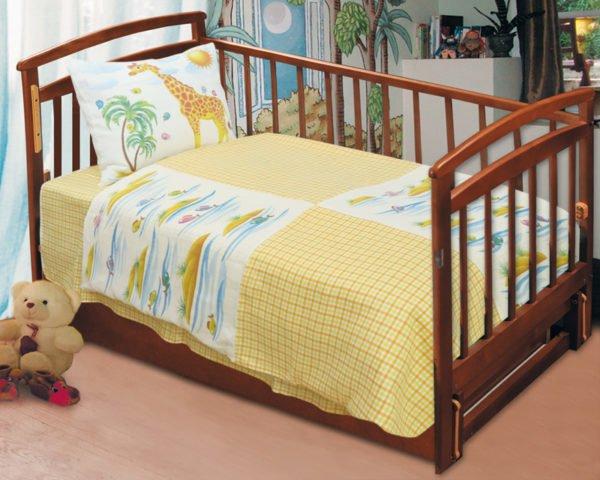 Комплект постельного белья детский комбинированный Островок, лен 100%