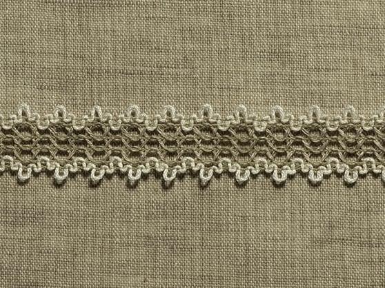 Фото 3 - ТЕСЬМА ОТДЕЛОЧНАЯ лен с белым 20 мм (кружевная).