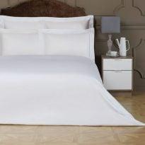 Комплект постельного белья белый перкаль, хлопок 100%