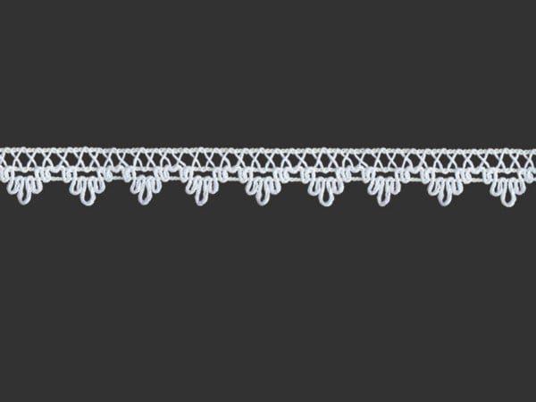 Тесьма отделочная  белая 14 мм