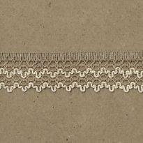 Фото 15 - ТЕСЬМА ОТДЕЛОЧНАЯ лен с белым 30мм.