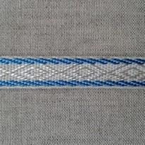ЛЕНТА ОТДЕЛОЧНАЯ лен с голубым 12мм