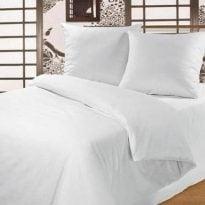 Фото 13 - Комплект постельного белья белый, хлопок 100%.