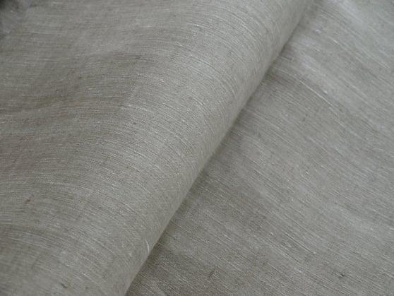 Фото 4 - Льняная ткань  суровая, меланж , ширина 2.6м лен 100%.