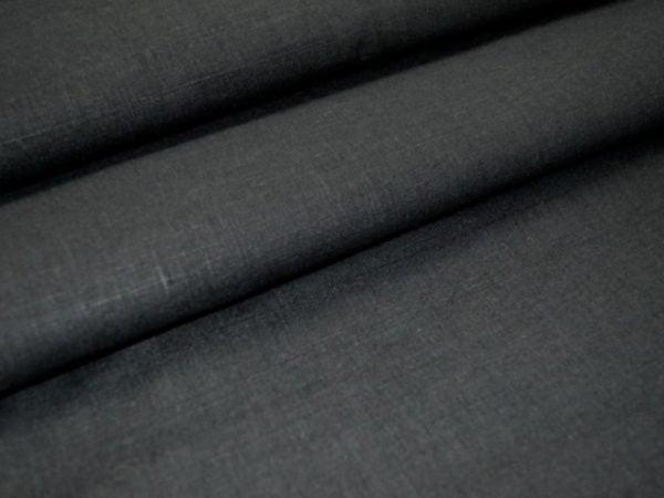Фото 4 - Ткань льняная черная лен 100%.