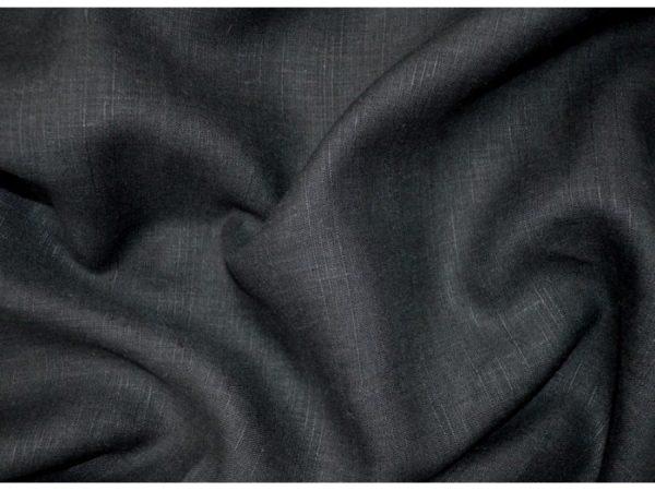 Фото 3 - Ткань льняная черная лен 100%.