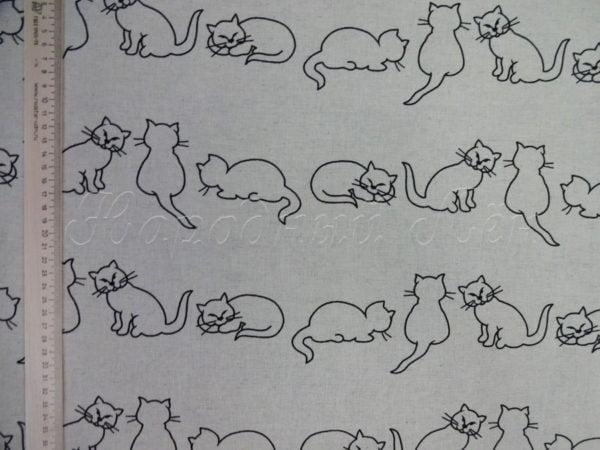 """Фото 4 - Ткань льняная """"кошки""""."""