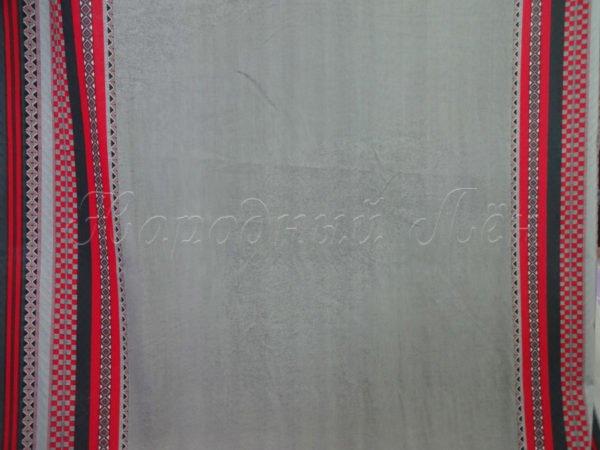 Фото 5 - Ткань льняная серая с  красной  каймой.