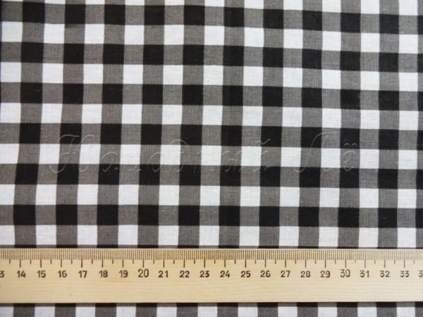 Ткань плательная, черно-белая клетка