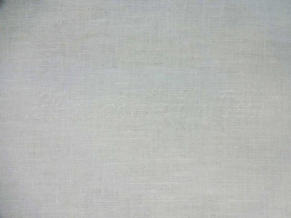 Фото 6 - Ткань декоративная рогожка льняная, белая.