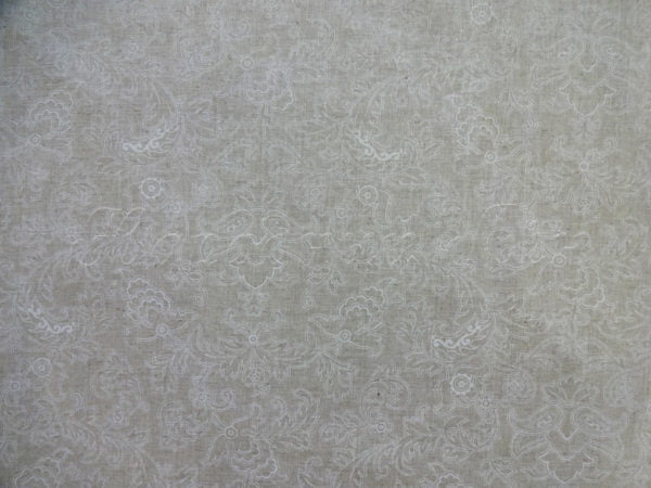 """Фото 6 - Ткань льняная """"Узор"""" белый на суровом ширина 220 см."""