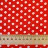 Фото 6 - Ткань плательная белый горох на красном.