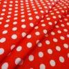 Фото 5 - Ткань плательная белый горох на красном.