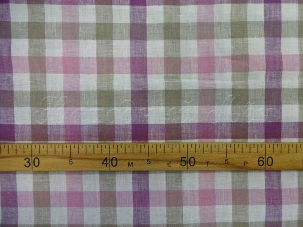 Ткань для постельного белья в клетку шир. 220, лён 100%
