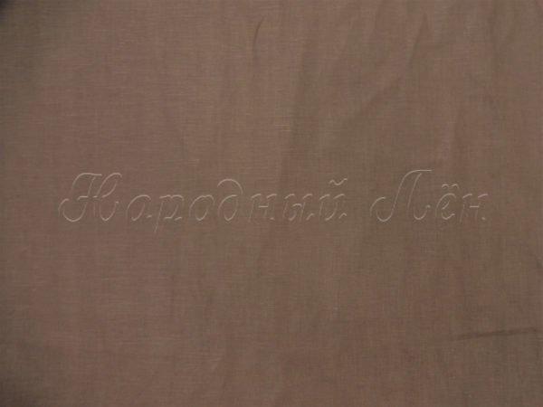 Фото 5 - Ткань льняная  коричневая.