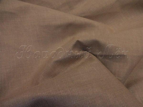Фото 6 - Ткань льняная  коричневая.