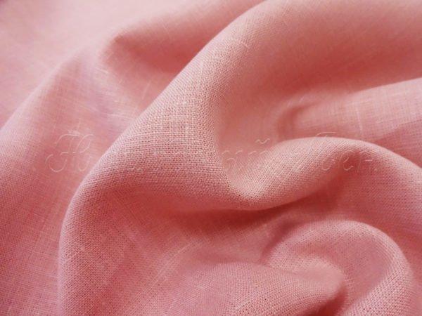 Ткань льняная, ширина 2.6 м, лен-100% розовая