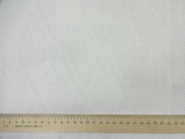 Фото 6 - Ткань полулен полотенечный 50см. Белый.