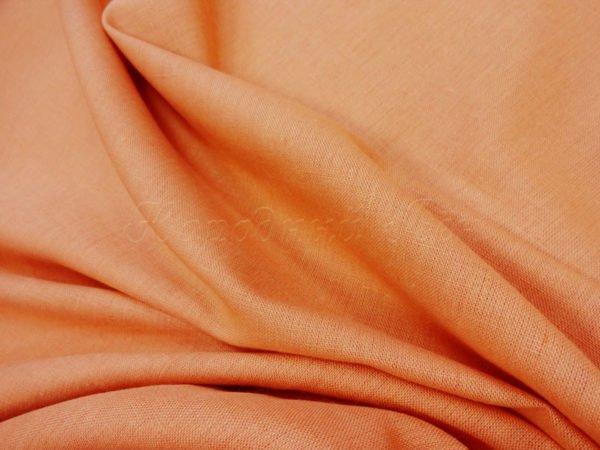 Фото 5 - Ткань льняная костюмная светлый  терракот.