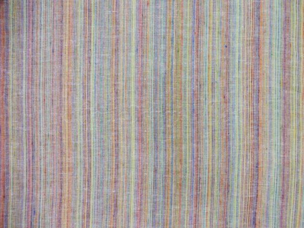 Фото 7 - Ткань костюмная, с цветными  просновками лен-100.