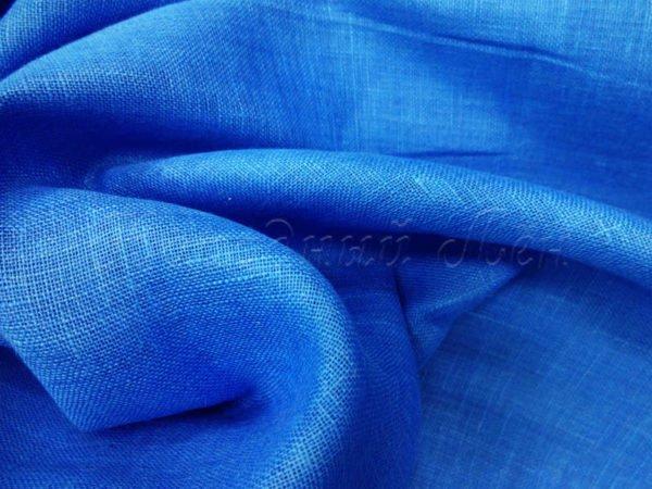 Фото 7 - Вуаль льняная, тёмно-голубая.