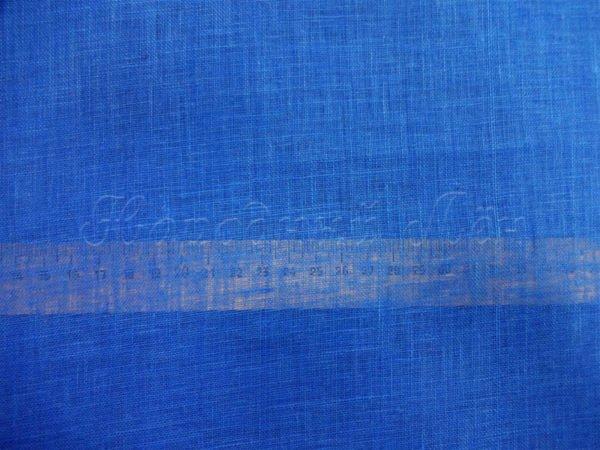 Фото 6 - Вуаль льняная, тёмно-голубая.