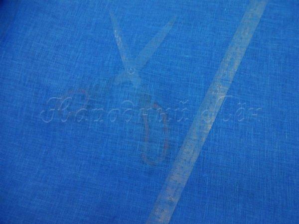 Фото 5 - Вуаль льняная, тёмно-голубая.