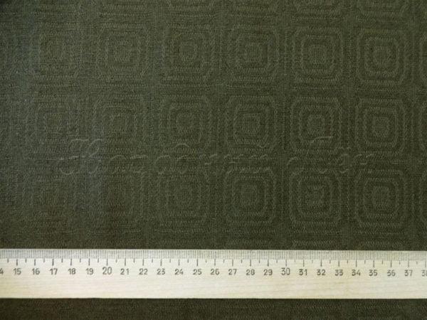 Фото 6 - Ткань льняная жаккардовая темно-оливковая.