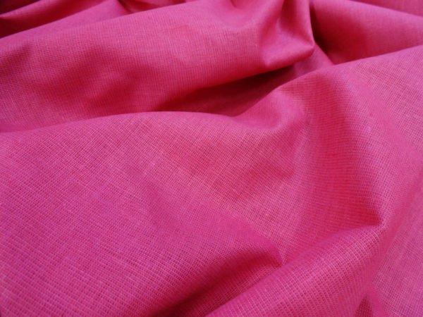 Фото 5 - Ткань льняная цвета  фуксии.