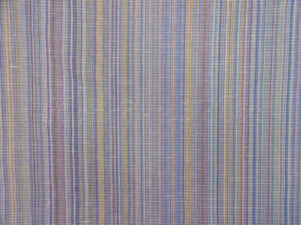 Фото 5 - Ткань льняная с просновками синяя, ширина 150 см.