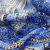 """Фото 12 - Льняная набивная ткань """"цветочный бордюр""""."""