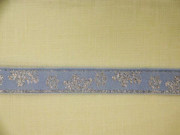 Фото 3 - ЛЕНТА ОТДЕЛОЧНАЯ голубой с сереб 16мм.