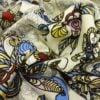 """Фото 12 - Льняная ткань """"Восточный сад"""" (фон суровый)."""