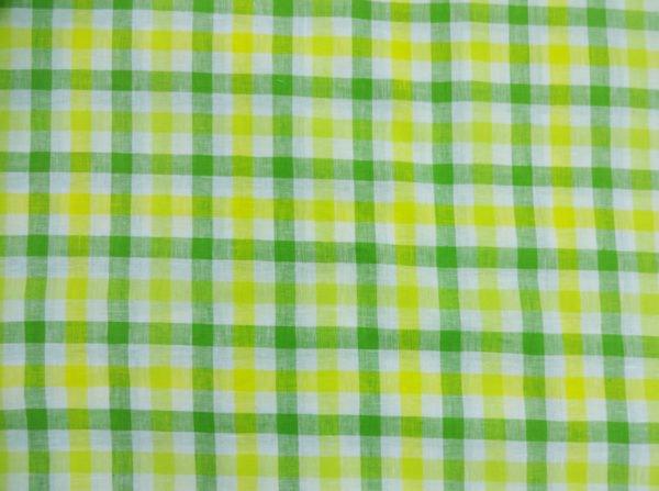 Фото 6 - Ткань для постельного белья в клетку ширина 180 см зелено-желтая.