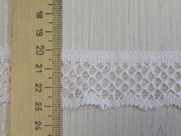 Фото 6 - Тесьма кружевная  отделочная 30 мм, белый.