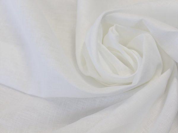 Фото 3 - Ткань льняная  белая, лен 100%.