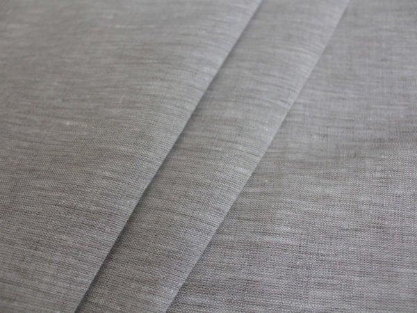 Фото 3 - Льняная ткань  суровая, меланж , ширина 2.6м лен 100%.