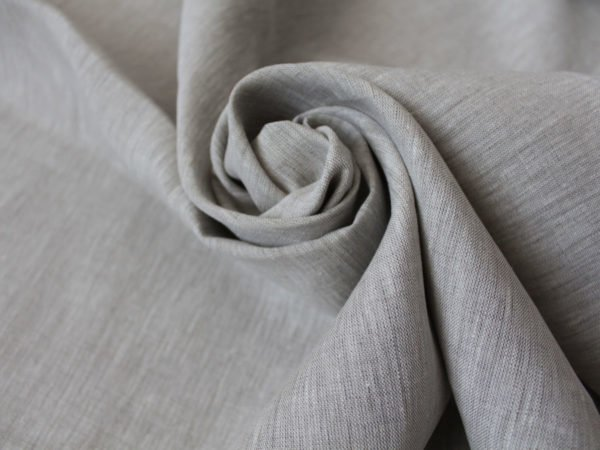 Фото 3 - Льняная ткань цвета небеленого льна, ширина 260 см лен 100%.
