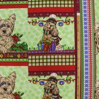 """Фото 22 - Вафельное полотно """"Собачки"""" зеленое, 1 купон - 60 см."""