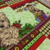 """Фото 11 - Вафельное полотно """"Собачки"""" зеленое, 1 купон - 60 см."""