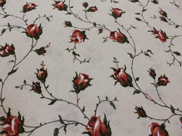 """Фото 4 - Льняная набивная ткань """"зайцевская роза""""-2."""